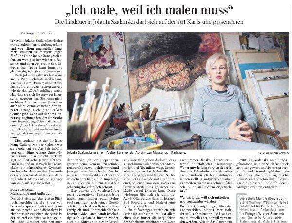 Lindauer Zeitung vom 08.03.2012